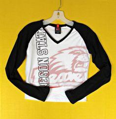 Women Nike Team Oregon State Beavers Mesh Top Shirt Size S 4 6 8 Cropped Midriff #Nike #OregonStateBeavers
