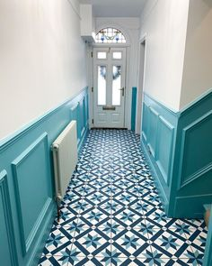"Tile Mountain on Instagram: ""We're not sure if there's such a thing as 'hallway goals' but if there is then this would be ours 😍😍😍 Designed by @sophiehannahhome using…"" Hallway Flooring, Tile Floor, Stairs, Goals, Mountain, Furniture, Instagram, Design, Home Decor"