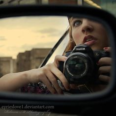 Self portrait idea Confusion in the Mirror by *raemarshall on deviantART