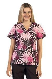 """Peaches Sport Amanda Scrub Print Top in """"Assorted Floral"""" 9407-AFYR Peaches Sport Amanda Scrub Print Top in """"Assorted Floral""""    100% Cotton   V-neck princess top  Angled patch pockets for added fashion  Extra contrast pocket  Based on 9402 solid body style  Length: 26""""  XS-3X $19.00 #scrubs #scrubcouture #nurses"""