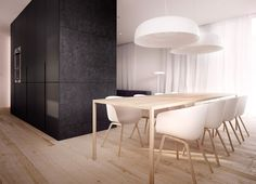 white-wood-dining-table