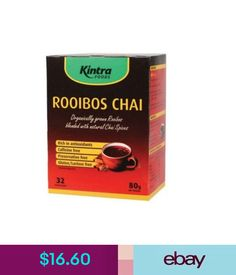 Health Foods Kintra Foods Rooibos Chai - Tea Bags X 32 Rooibos Blend With Chai Spices 80G #ebay #Home & Garden
