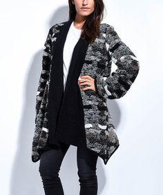 Beige & Gray Asymmetrical Wool-Blend Jacket #zulily #zulilyfinds