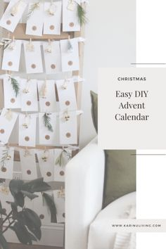 A DIY Advent Calendar with dollar store finds and items you already have Seasonal Decor, Holiday Decor, Diy Advent Calendar, Blanket Ladder, Some Ideas, Round Stickers, Dollar Stores, Lifestyle Blog, Easy Diy