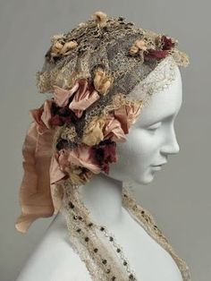 In the Swan's Shadow: Cap of Blonde Lace, mid 19th century