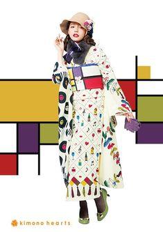 Traditioneller Kimono, Kimono Outfit, Kimono Fabric, Kimono Fashion, Fashion Outfits, Traditional Kimono, Traditional Outfits, Modern Kimono, Wedding Kimono