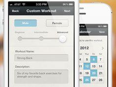 Dribbble - Fitness App by Brian Plemons