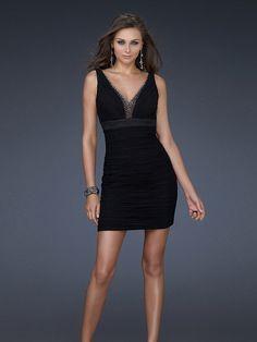 honorable Gasa Negro Sin Mangas Corto/Mini Cremallera Tallas pequeñas|Triángulo Invertido|Cuadrado vestidos de fiesta cortos -wepromdresses.com