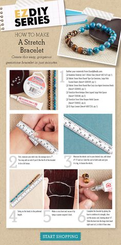 Making a popular stretch bracelet is creative, fast and fun. If you're a beginner at making jewelry, this easy DIY project with step-by-step instructions is the perfect way to get started. Everything you need to make a festival-style stretch bracelet is available right here at GoodyBeads. Make one today!