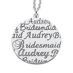 personalized bridesmaid pendant