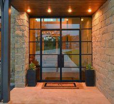 New Modern Glass Front Door Entrance House Ideas Front Door Entrance, Glass Front Door, House Entrance, Glass Entry Doors, Front Entrances, Front Entry, Porch Entrance Ideas, Interior Glass Doors, Wood Glass Door