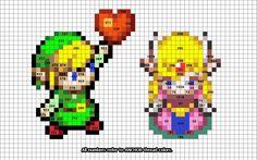 Link and Zelda crossstitch pattern