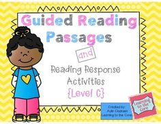 This pack includes 15 guided reading passages for students who are at a Level C, as according to F&P. Each passage also has a lesson plan, two reading response questions and a running record. It is a great resource to use throughout the year to help your students who are at a Level C practice reading books at their instructional level.