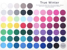 The True Winter Color Pallet~ please do take in to consideration that the colors may vary slightly from the original due to the translation from the canvas to your computer screen.