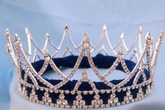 Rhinestone Regal King Full Rhinestone Men's Crown Silver The Ashbury Regal unisex full round crown, ideal for stage productions, pageants, homecomings and more. This elegant crown is made with high qu