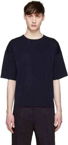 Jil Sander - Navy Knit T-Shirt