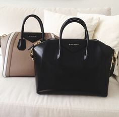 #Givenchy black and nude totes with strap for a crossbody