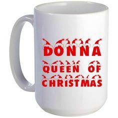 Queen of Christmas Mug, Santa Hat, Christmas Gift, Christmas Mug, Custom Gift, Personalized Mug by ForYouByRose on Etsy