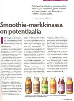 Froosh valtaa hedelmäsmoothie-markkinoita, Kaupan Maailma 6/2013