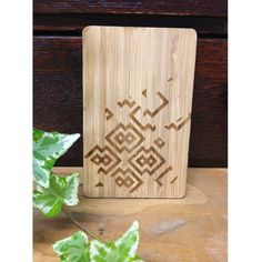 This wooden postcard is great for a gift can be written on the back and be kept as a decorative object. 14cm Height x 9cm width  3mm in thickness. Made from sustainable source Bamboo. ( The two images one is the front and the second is the back on the postcard )