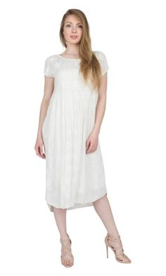 Velvet By Graham & Spencer Woman Embroidered Gauze Dress Off-white Size XS Velvet nBn5W7pvN