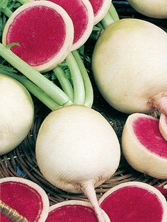 Watermelon Radish. I have to try and grow these this year. I love them and they are gorgeous in a salad.