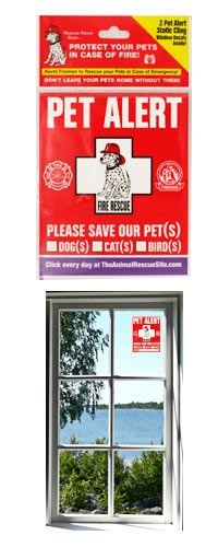 Funds 14 bowls of food. Protect My Pet Window Clings - Set of 2 at The Animal Rescue Site