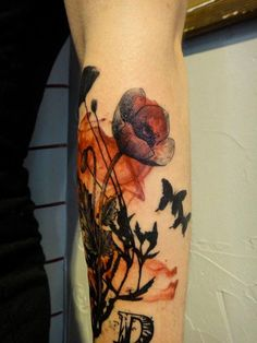 Xoil Tattoo: Poppies detail