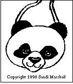 Panda Bear Bib Pattern Page - Crochet - 1/3/98
