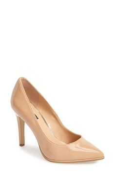 "Kenneth Cole Reaction 'Bee Buzz' Pump (Women) available at #Nordstrom -$104.00 (cobalt sued or neutral 4"" small platform pointy toe comfor soles)"