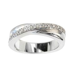 Birks Criss-cross Diamond Wedding Band, in 18kt White Gold
