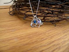 Sterling silver heart infinity necklace by always4evercreations
