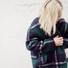 Bundling up in our Plaid Coat C17 this afternoon | available in stores and online. #shopnoul #plaidcoat
