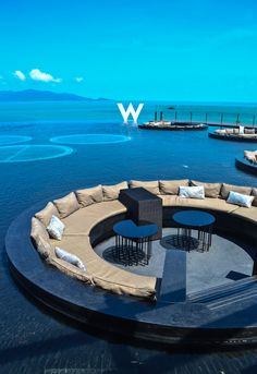 The spectacular lobby of the W Retreat & Spa Koh Samui Thailand