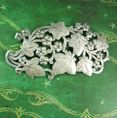 HUGE sterling sash pin  silver ornate Brooch  by NeatstuffAntiques