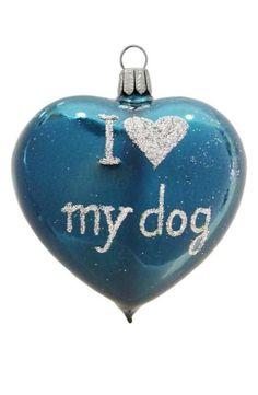 I Love My Dog Ornament