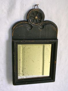 A Federal Period Carved Decorated Small Looking Glass Mirror       Sold Ebay   570.00