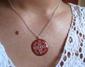 Joy's mandala necklace