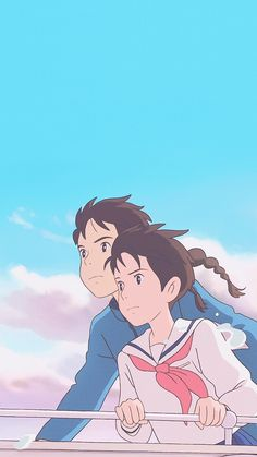 Studio Ghibli's From Up on Poppy Hill Art Studio Ghibli, Studio Ghibli Movies, Old Anime, Anime Manga, Anime Art, Animes Wallpapers, Cute Wallpapers, Personajes Studio Ghibli, Studio Ghibli Background