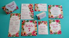Floral Watercolor Downloadable Wedding Stationery: by DColovenotes