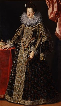 Marie de Medici (1575-1642), Queen of France and mother of Louis XIII, painted in the year of her marriage to Henri IV, 1600 by Santi di Tito (1536-1603) (Pitti Palace)