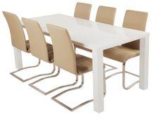Speurders.nl: Eettafel 120/140/160/180cm lang HOOGGLANS wit ook salontafel