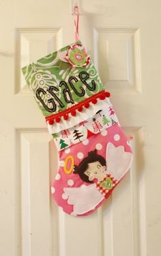 Custom Hand Made Personalized Christmas Stocking by DunlapLove, $75.00