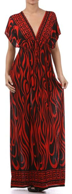 Flames on Solid Black Graphic Print V-Neck Cap Sleeve Empire Waist Long / Maxi Dress http://www.amazon.com/exec/obidos/ASIN/B008E7IB2A/hpb2-20/ASIN/B008E7IB2A