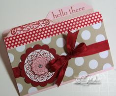 LW Designs: Happy Day File Folder Card; made with Envelope Punch Board.