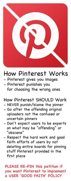Pinterest is the bartender giving us bootleg booze and then blaming us for sharing it.