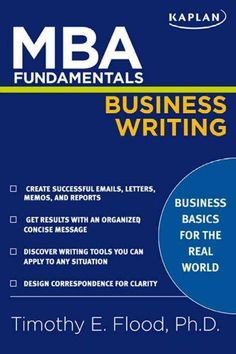 MBA Fundamentals Business Writing