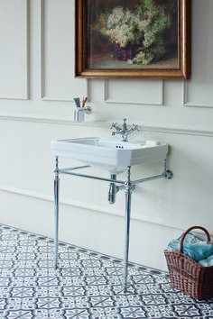 To add a vintage feel to your bathroom you need look no further than Burlington. This Victorian styled basin and stand creates a stunning regal feel to a bathroom. Accompany with matching bath, shower and sanitaryware for a luxurious bathroom suite. Cloakroom Sink, Downstairs Cloakroom, Downstairs Toilet, Upstairs Bathrooms, Bathroom Basin, Victorian Bathroom, Vintage Bathrooms, White Bathrooms, Small Bathrooms