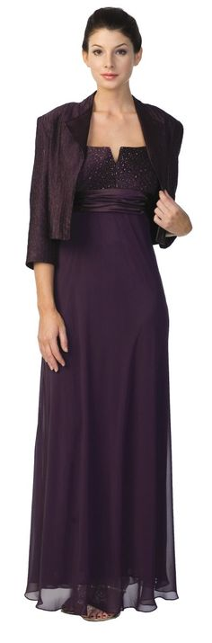 Plum Mother of the Bride/Groom Dress Plus Size Formal Gown Plum Long $179.99