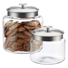The Container Store > Montana Glass Canisters  \\  perfect for food frequently bought in bulk, like nuts and quinoa